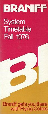 Airline Timetable - Braniff - Fall 1976