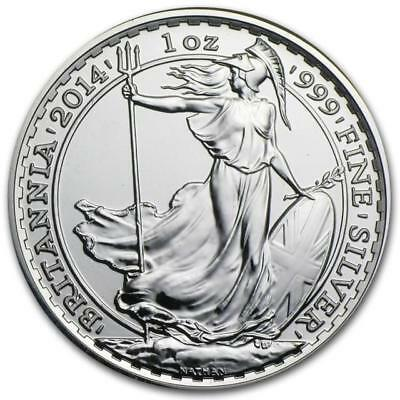 Great Britain - 2014 Britannia £2  - 1 oz Silver (BU) Coin with Horse Privy Mark