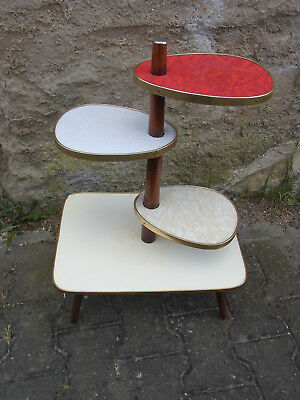 Mid Century 1950s Multicolor Plant Stand Display Table  #<