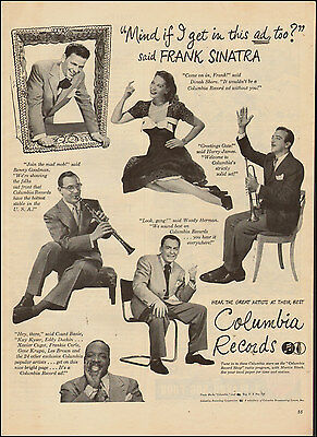 1946 Vintage ad for Columbia Records Frank Sinatra Benny Goodman