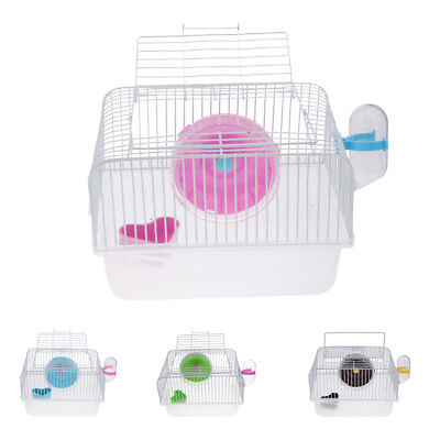 Large Cage for Hamster, Mouse or Gerbil with Heel Feeders Kettle Accessories