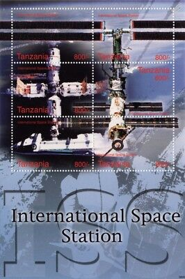 INTERNATIONAL SPACE STATION (ISS) Low Earth Orbiter Stamp Sheet (2006 Tanzania)