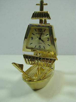 Miniature Clock Collection Sailing Ship #211
