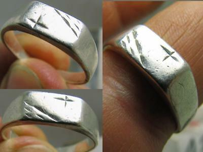 Cross !  Vintage Sterling Silver Ornamented Ring !# 134