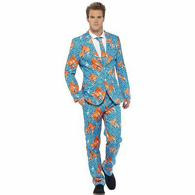 "GOLDFISH STAND OUT STAG NIGHT SUIT - 38""-48"" chest - mens fancy dress costume"