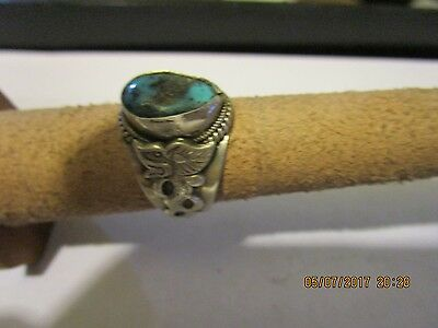 Sterling Silver Vintage 925 Mythical Dragon Ring Sz 9 .5