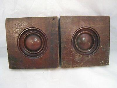 Wood Bullseye Moulding Antique Pair For Windows Doors Architectural Salvage 1