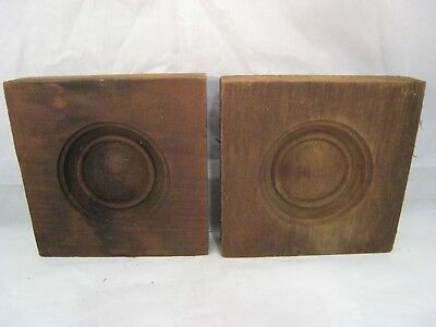 Wood Bullseye Moulding Antique Pair For Windows Doors Architectural Salvage 2