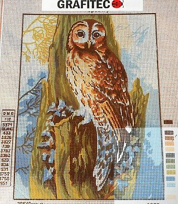OWL PERCHED ON A TREE - Tapestry/Needlepoint to Stitch (NEW) by GRAFITEC