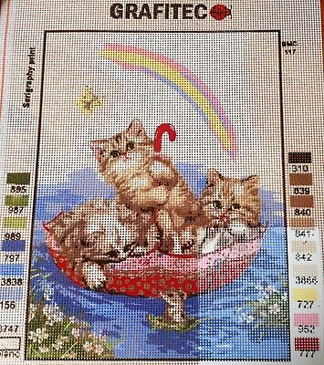 RAINBOW KITTENS - Tapestry/Needlepoint to Stitch (NEW) by GRAFITEC