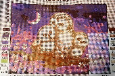 OWL FAMILY - Tapestry/Needlepoint to Stitch (NEW) by GRAFITEC