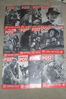 12 x 1944  PICTURE POST Magazines World War 2