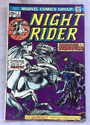 NIGHT RIDER #2 ~ 1974 Marvel Comics - Vince Colletta! Dick Ayers! Stan Lee!