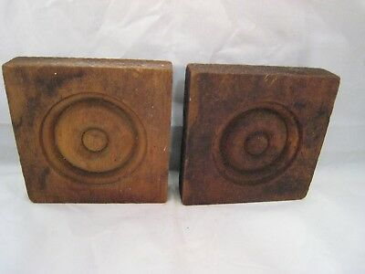 Wood Bullseye Moulding Antique Pair For Windows Doors Architectural Salvage 5