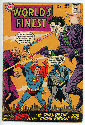 Worlds Finest Comics #177 (DC, August 1968) Joker Cover Vintage Comic Book