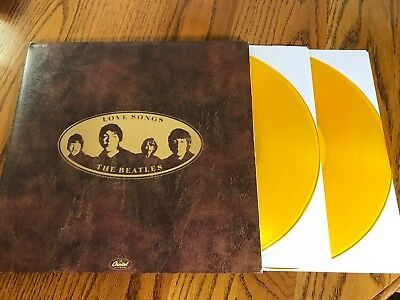 The Beatles Love Songs Double Lp On Gold Colored Vinyl With Booklet ~ 1977
