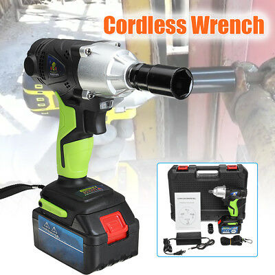 68V Cordless Electric Wrench 420Nm 1/2'' Chuck+Rechargeable 8.0Ah Li-ion Battery