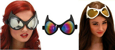 Adult Jumbo Big Cat Eye Catwoman Batman Superhero Anime Costume Goggles Glasses