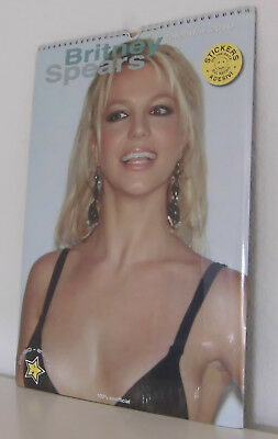 Britney Spears Kalender / Calendar / Calendrier 2010  NEW /OVP with 12 Stickers
