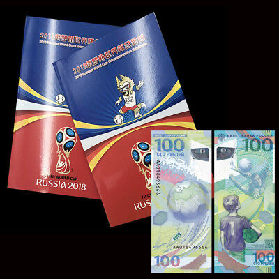 Russia 100 Rubles, FIFA World Cup, 2018, P-NEW, Polymer, COMM. in Folder, UNC