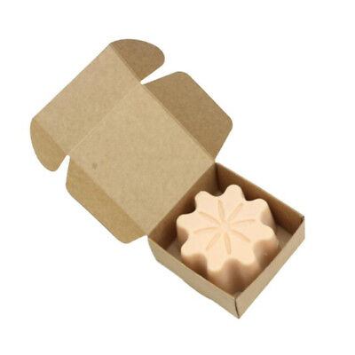 10x Folding Kraft Paper Box Handmade Candle Soap Wedding Gift Packaging Box