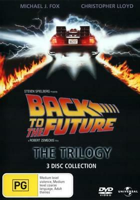 Back To The Future 1 2 3 Trilogy Box Set DVD R4 New! *