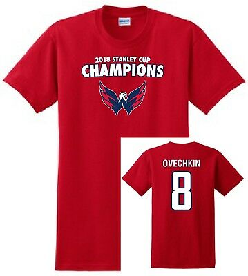 Washington Capitals Championship T-Shirt. 2018 Stanley Cup Champions Ovechkin