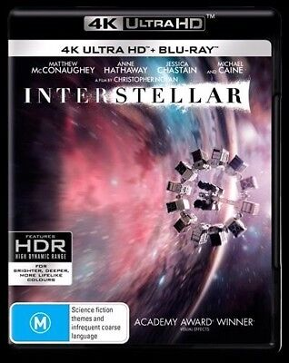 Interstellar UHD 4K Blu-ray Region B New!