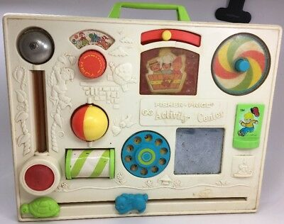 Vintage FISHER-PRICE Baby Crib Activity Center 134 Toy Nursery Rhymes