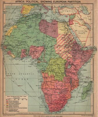 SECOND WORLD WAR AFRICA. Showing European colonies & German mandates 1940 map