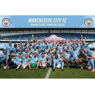 Manchester City Football Club Premier League Champions 2017/18 Wall Poster 1