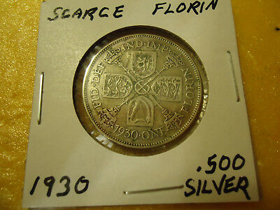 1930 Gothic Florin Coin  **.500 Silver**   >>Combined Shipping<<