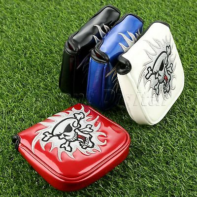PU Magnetic Closure Square Golf Putter Headcover Fits All Mallet Style Putters