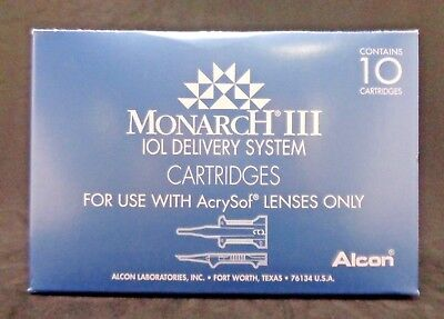 Alcon 8065977763 Monarch III IOL Delivery System Cartridges (Box of 10) Exp 2022