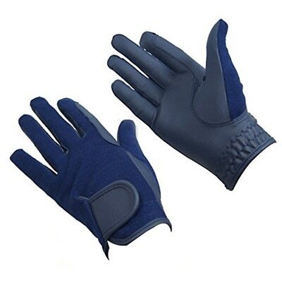 Bitz Horse Rider Bitz Synthetic Gloves Adult Navy Medium Horse Riding Wear -
