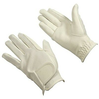 Bitz Horse Rider Bitz Synthetic Gloves Adult White Small Horse Riding Wear -