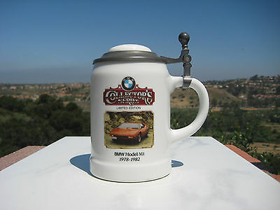 Collectors Series Limited Edition Bmw Model  M1 1978-1982 Lidded Stein Mug
