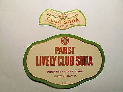 PABST LIVELY CLUB SODA prohibition label and neck label PABST BREWERY MILWAUKEE