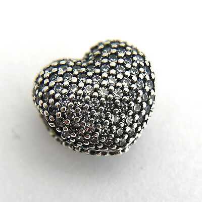 13359aa02 Authentic Pandora Pave Open My Heart Clip Charm, Clear CZ, 791427CZ, New