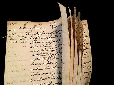 RELIGIOUS MANUSCRIPT IN LATIN 1774  POPE CLEMENT XIV 12 pages