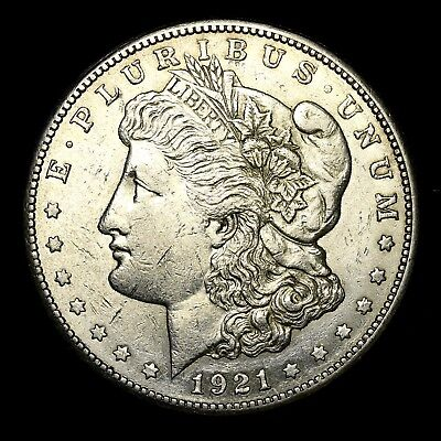 1921 S ~**ABOUT UNCIRCULATED AU**~ Silver Morgan Dollar Rare US Old Coin! #E50