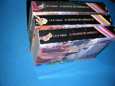 3 TOLKIEN novels in french~LE SEIGNEUR DES ANNEAUX~free shipping