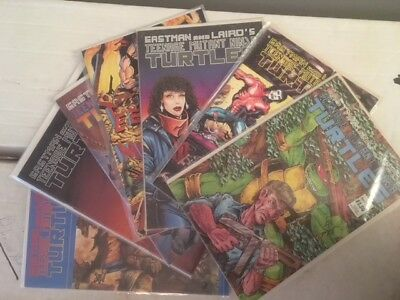 Lot of 7 TMNT Comics - EASTMAN AND LAIRD'S  TEENAGE MUTANT NINJA TURTLES