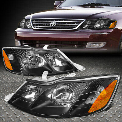 For 00-04 Toyota Avalon Pair Black Housing Amber Corner Driving Headlight/lamps