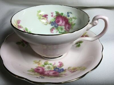Eb Foley Bone China Cup And Saucer England     Pink/posies