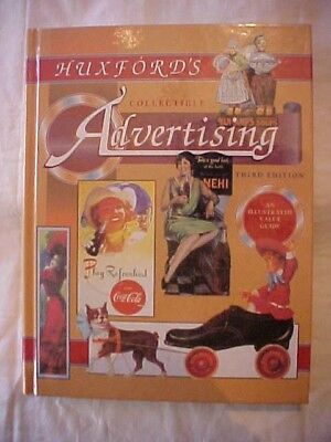 Book HUXFORD'S COLLECTIBLE ADVERTISING 3RD; ILLUS ID & VALUE 10,000+ Items
