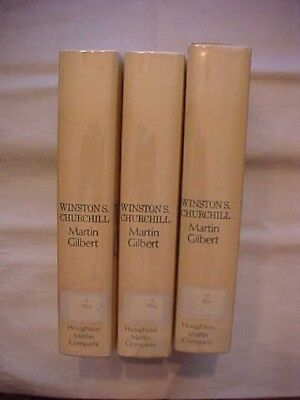 3 Books WINSTON S. CHURCHILL by Martin Gilbert; COMPANION VOLUME IV PARTS 1-3