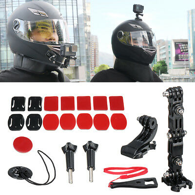 Helmet Jaw Adjustable Arm Mount Holder Accessory Kit for Gopro 6/5/4 Motorcycle