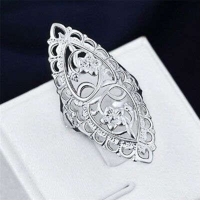 New Fashion Accessories Jewelry Hollow Big Finger Ring for Women Girl Nice Gift