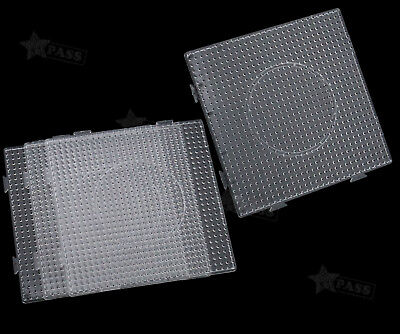 4 x Clear Square Pegboards Board For Perler Hama Beads Peg Board Kids Toys